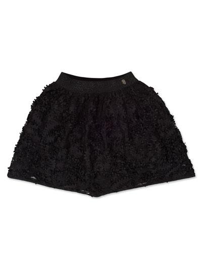 Girl's 3D Petals Skirt, Size 8-16