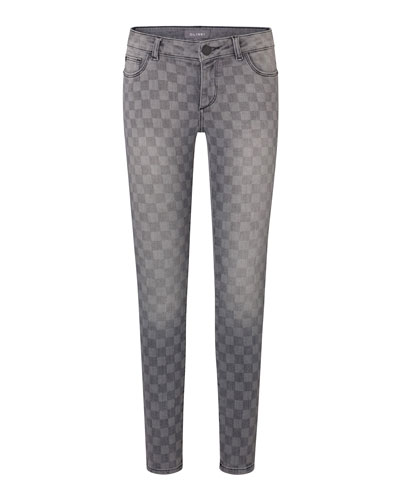 Girls' Chloe Checkmate Printed Skinny Jeans, Size Youth 7-16
