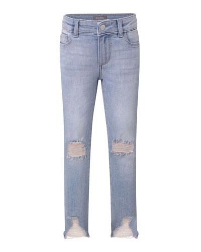Chloe Distressed Skinny Jeans, Size 7-16