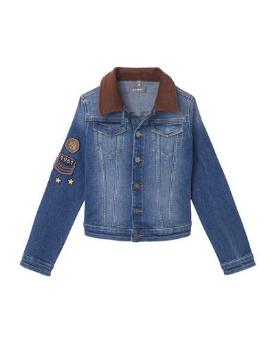 Manning Denim Jacket w/ Patches, Size S-L
