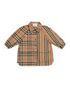 Burberry Girl's Mini Teigan Check & Icon Stripe