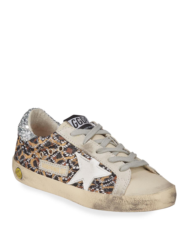 Superstar Leopard Embellished Sneakers