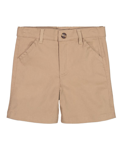 Cotton Twill Shorts, Size 8-14