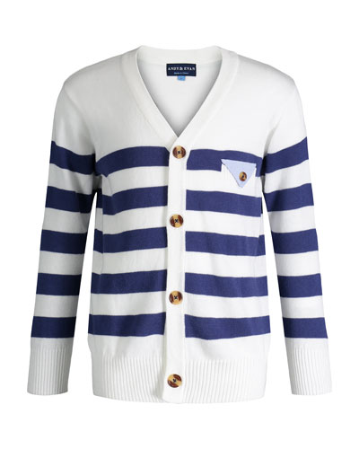 Varsity Striped Sweater, Size 8-14
