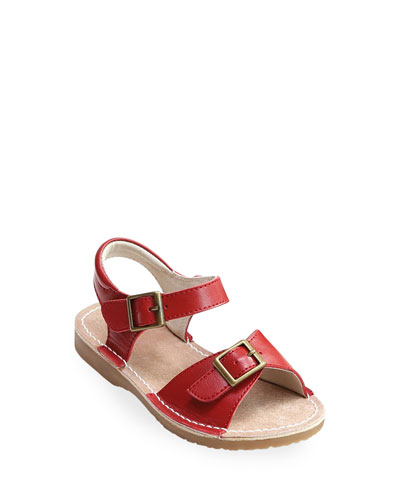 Olivia Leather Buckle Open-Toe Sandal, Toddler/Kids