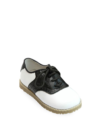 Luke Two-Tone Leather Saddle Shoes, Toddler/Kids