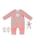 Albetta Boy's Polar Bear Romper w/ Booties &