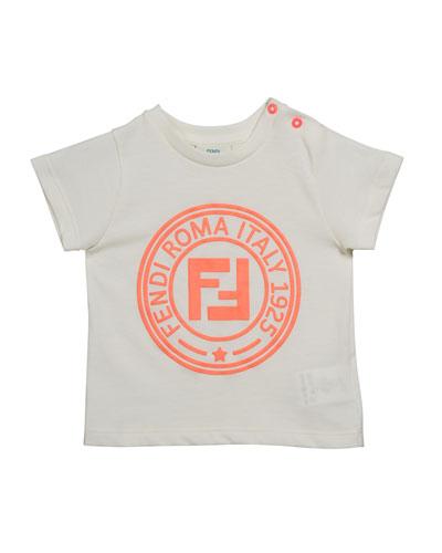 Girl's Short-Sleeve Logo T-Shirt, Size 12-24 Months