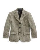 Ralph Lauren Childrenswear Princeton Herringbone Wool-Blend