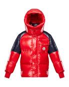 Moncler Boy's Sigean Colorblock Puffer Coat, Size 4-6