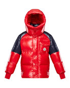 Moncler Boy's Sigean Colorblock Puffer Coat, Size 8-14