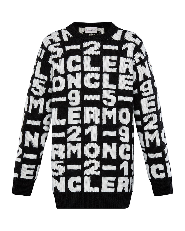 Moncler Babies' Girls' Logo Sweater Dress - Big Kid In Black
