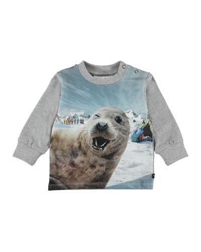 Eloy Seal Selfie Print T-Shirt, Size 6-24 Months