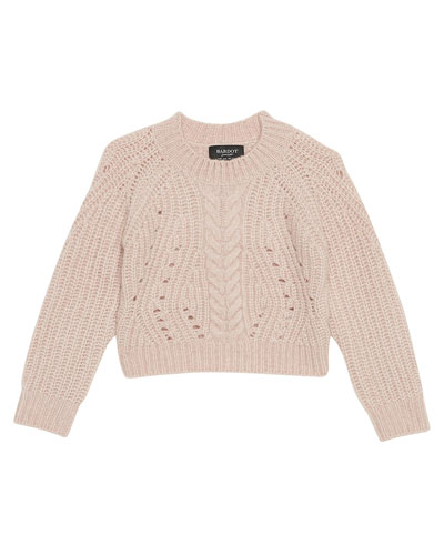 Girl's Cosy Cable Knit Sweater, Size 8-16