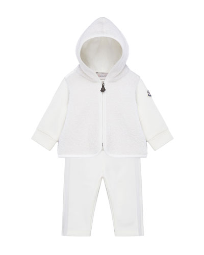 Wool-Blend Zip Hoodie w/ Matching Sweatpants, Size 6M-3