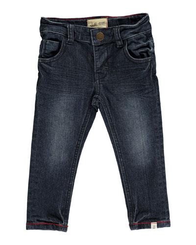Slim Fit Denim Jeans w/ Children's Book, Size 6-24 Months