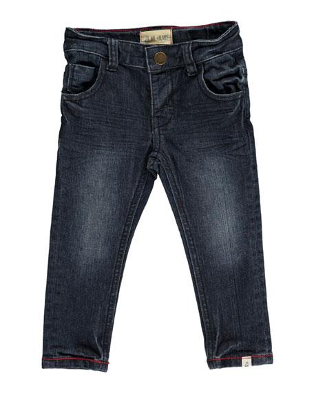 Me & Henry Slim Fit Denim Jeans w/ Children's Book, Size 6-24 Months