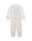 Ralph Lauren Childrenswear Cotton Voile Floral Overalls w/
