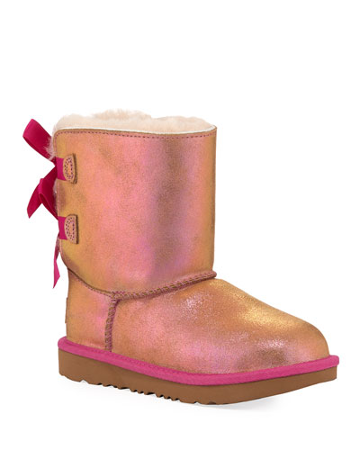 Bailey Bow II Shimmer Suede Boots, Baby/Toddler