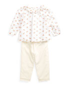 Ralph Lauren Childrenswear Girl's Floral Print Voile Woven
