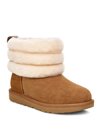 Fluff Mini Quilted Boots, Kids