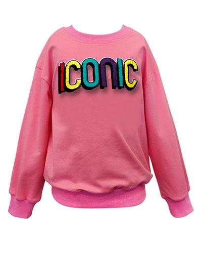 Girl's Iconic Sweatshirt, Size 4-6X