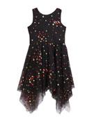 Zoe Girl's Dara Metallic Dot Print Mesh Dress,
