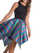 Zoe Girl's Jax Metallic Rainbow Stripe Dress, Size