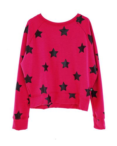 Stars Foil Print Sweatshirt, Size 7-16