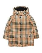 Burberry Girl's Jamir Check Puffer Coat, Size 3-14