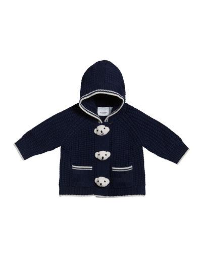 Boy's Knit Teddy Bear Jacket, Size 3-18 Months