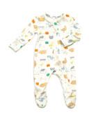 Angel Dear Little Farm Print Zipper Footie Pajamas,