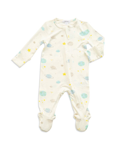 Cosmic Wonder Print Zipper Footie Pajamas, Size Newborn-9 Months