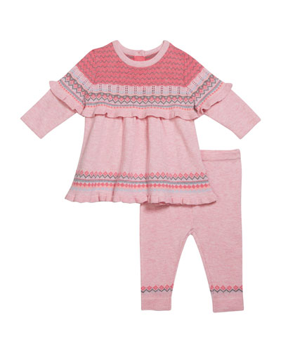Girl's Chunky Knit Tunic w/ Matching Leggings, Size 3-24 Months