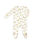 Angel Dear Avocado Toast Print Zipper Footie Pajamas,