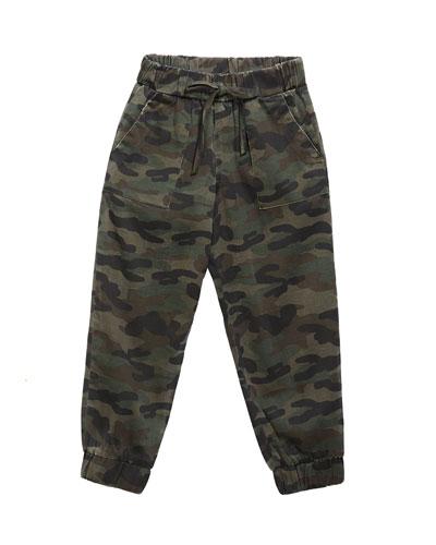 Girl's Camo Jogger Pants, Size 8-14