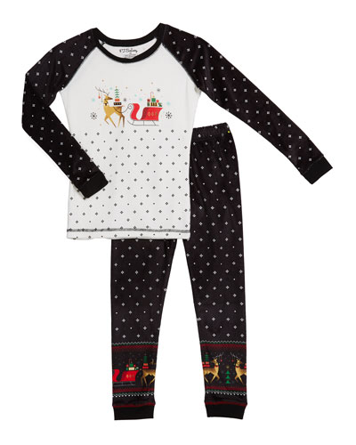 Kid's Sleigh Sleep Set, Size 2-14