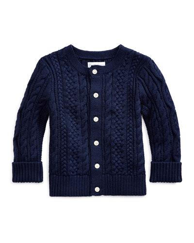 Cotton Cable-Knit Cardigan, 6-24 Months