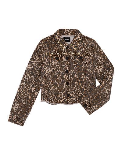 Girls' Jungle Studded Denim Jacket, Size S-XL