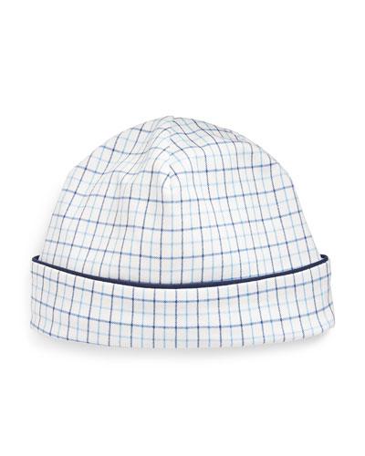 Cotton Interlock Plaid Baby Hat