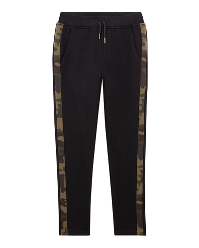 Boys' Russell Camo-Stripe Joggers, Size S-XL