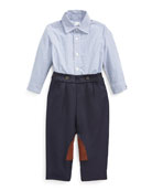 Ralph Lauren Childrenswear Boy's Broadcloth Woven Shirt w/