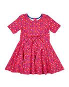 Florence Eiseman Girl's Dot Printed Short-Sleeve Dress, Size