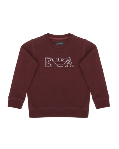 Boy's Eagle Embroidered Sweatshirt, Size 4-16