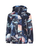 Molo Boy's Castor Space Print Functional Waterproof Jacket,