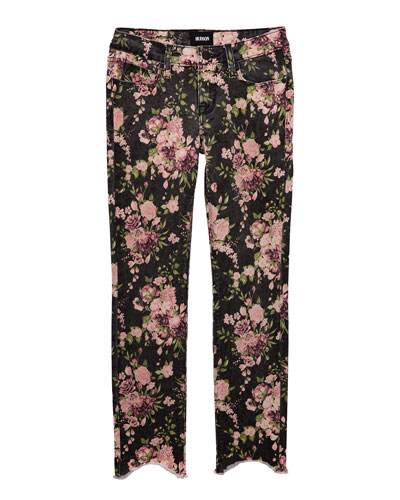 Girls' Dixie Floral-Print Skinny Jeans, Size 7-16