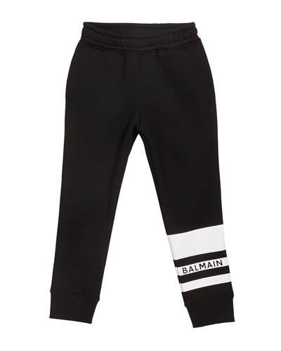 Kid's Logo Stripe Sweatpants, Size 4-10