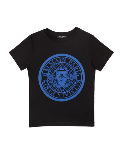 Kid's Short-Sleeve Coin Logo Tee, Size 4-10
