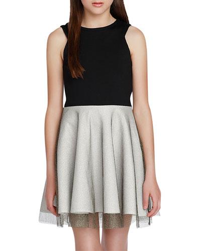Girl's The Victoria Super Ponti Dress w/ Metallic Skirt, Size S-XL