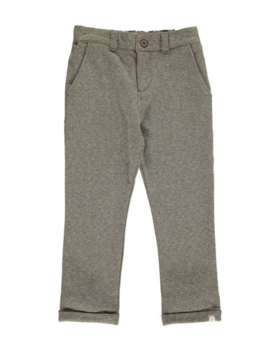 Boy's Jersey Straight Leg Pants w/ Children's Book, Size 2T-10